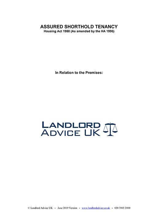 Assured Shorthold Tenancy Agreement from Landlord Advice UK