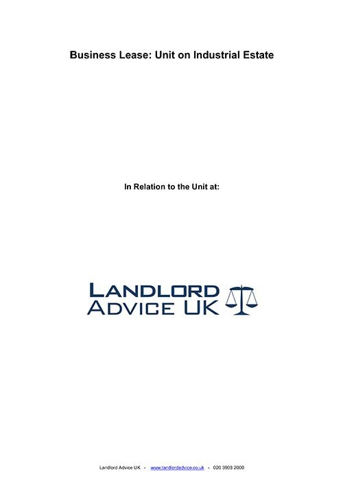 Business Lease for Unit from Landlord Advice UK