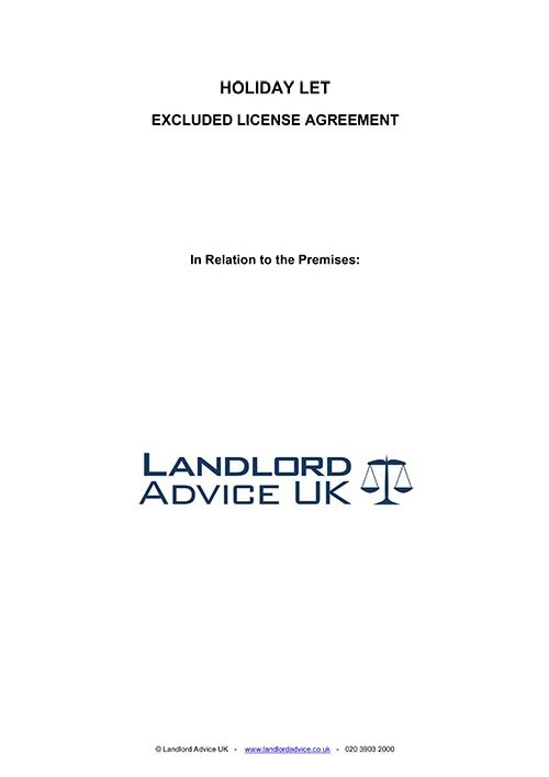 Landlord Advice UK Holiday Let Agreement